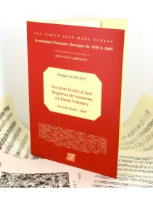 De Bacilly Bénigne The three books of Airs reprinted in 2 volumes - Second part for voice - Sheet music facsimile