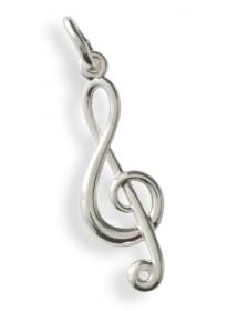 Jewelry treble clef pendant...
