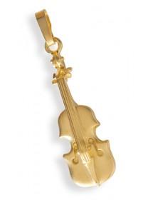 Jewelry violin pendant gold...