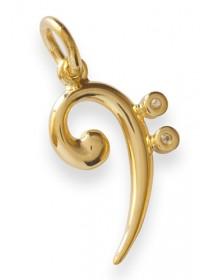 Jewelry bass clef pendant...