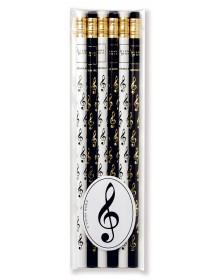 Pencils treble clef - black...