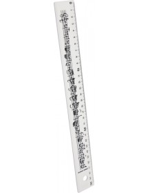 Ruler 30 cm white with line...