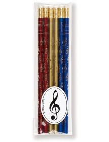 Crayons clé de sol - rouge,...